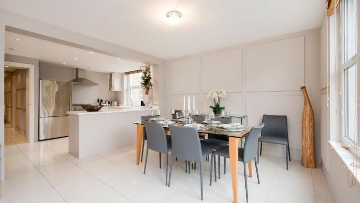 84 BC dining room & kitchen